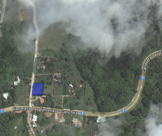Location of the Land is right OFF Boulevard del Atlantico. @ Las Terrenas